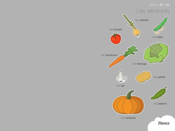 Food-vegetables_002_es #ScreenFly #flience #spanish #education #wallpaper #language
