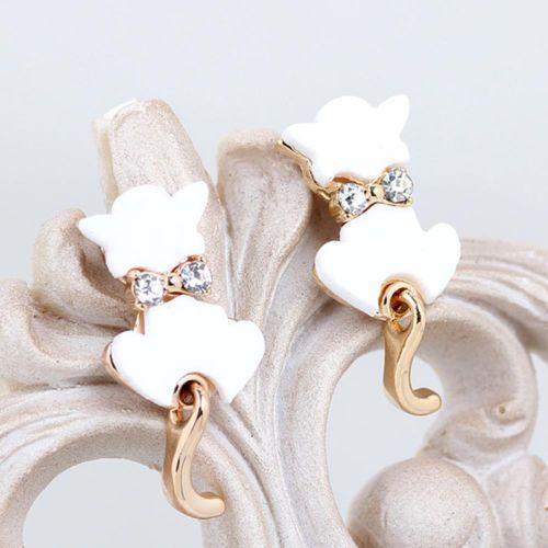 1Pair-Fashion-Womens-Lady-Crystal-Rhinestone-Cute-Cat-Stud-Earrings-Jewelry