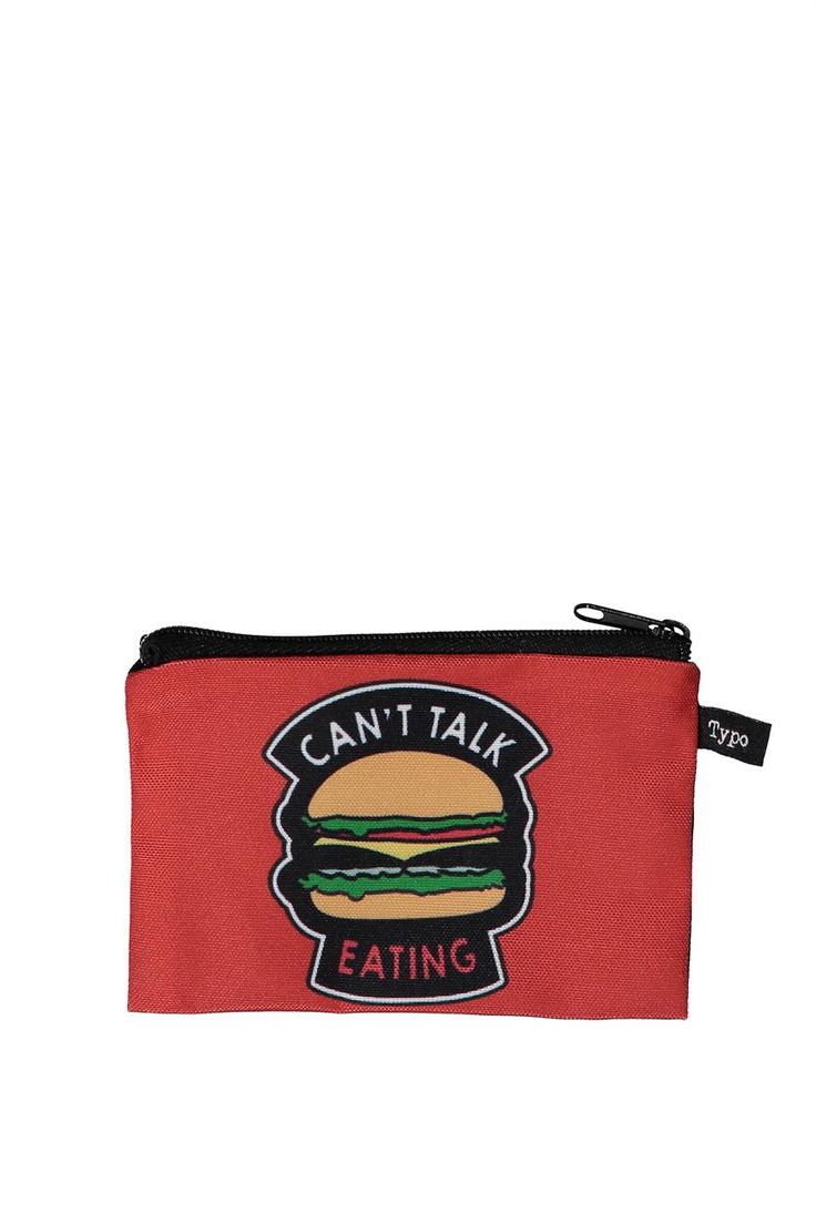 """Coin purse - """"Can't talk Eating"""""""