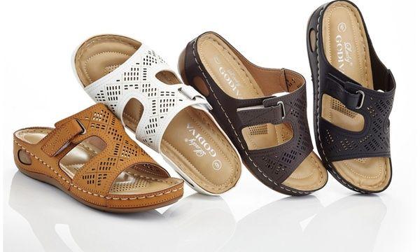 001a89f85f3 Lady Godiva Nancy Women s Comfort Wedge Sandals (Size 8.5)