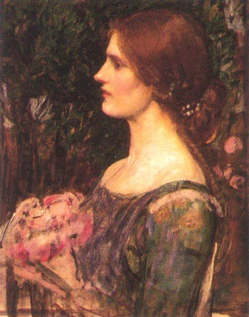 John William Waterhouse: Le Bouquet (étude) - 1908