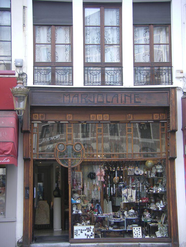 Art Nouveau shop front in Brussels