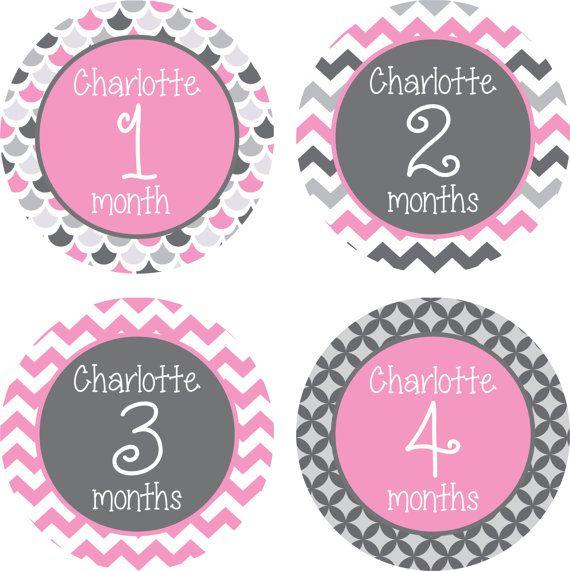 ON SALE Monthly Baby Milestone Stickers by LittleLillyBugDesign, $8.50
