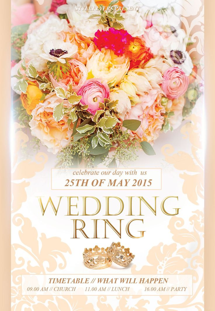 26 best wedding flyers images on Pinterest Facebook, Flyers and - wedding flyer