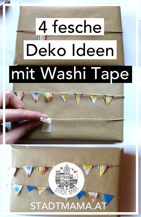 4 fesche Party Demo Ideen mit Washi Tape, die jede Kinderparty Deko simpel aufwerten. #kinderparty #partydeko #deko #diy  #bastelnmitkindern #washitape #mamablog #mamablogger #mamablogger_at #mamablogger_de