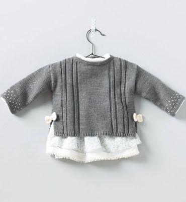Modèle pull fantaisie bébé