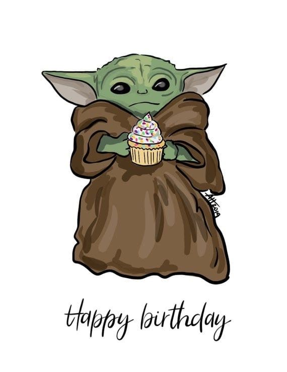 Awwwwww Ty The Onely Thing Is Its Not Even My Birthday Oof In 2021 Yoda Art Star Wars Pictures Star Wars Fandom