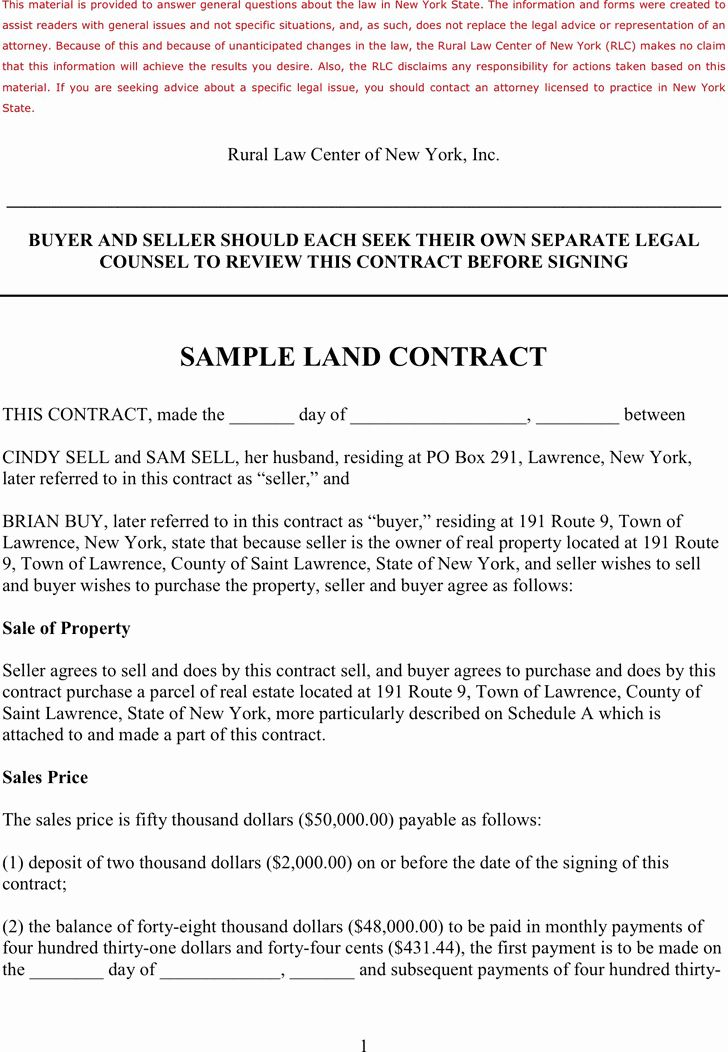 Free Land Contract Template In 2020 Contract Template Templates