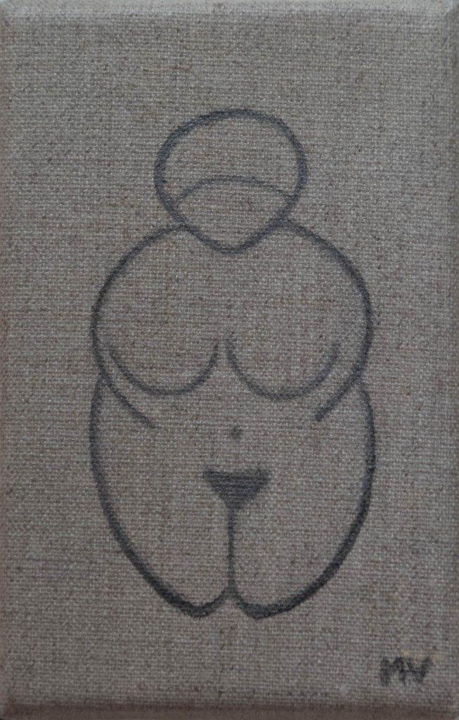 A little Venus inspired by the Willendorf Venus, une petite Vénus inspirée de la Vénus de Willendorf
