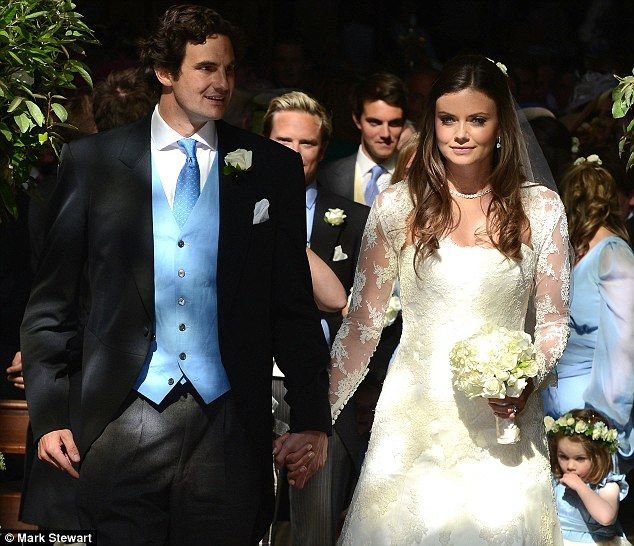 6/8/13.   Just married: Lady Natasha and Rupert Finch seem totally relaxed on their big day