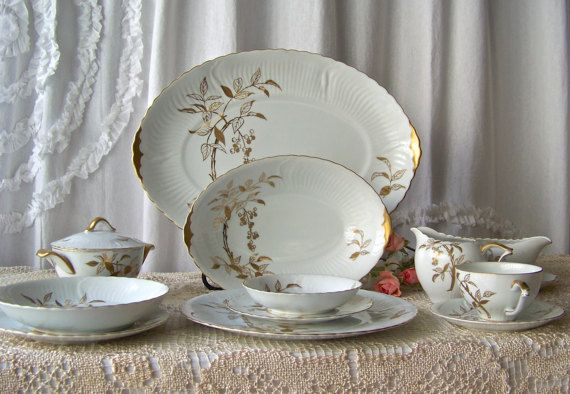 Vintage Victorian China Nandin Dinnerware Service by CynthiasAttic