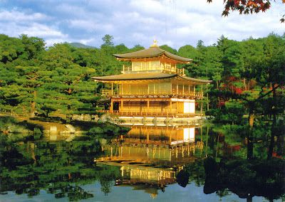 Temple of the Golden Pavilion from Kyoto // Kinkakuji