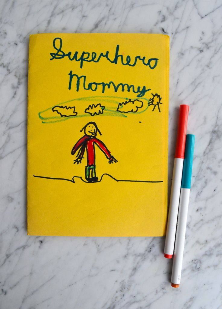 Sweet kid-made gifts for Mother's/Father's Day: homemade storybooks!