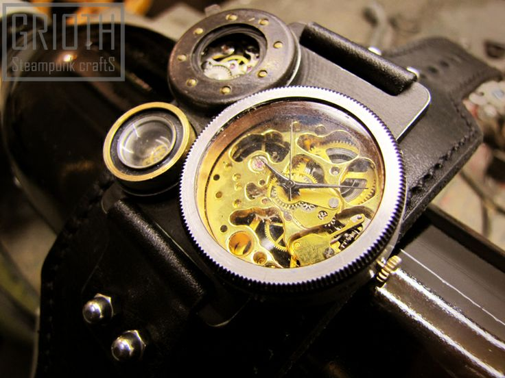 SteamWatch by Grioth. Steampunk hand made custom watch. https://www.facebook.com/grioth.steampunkcrafts