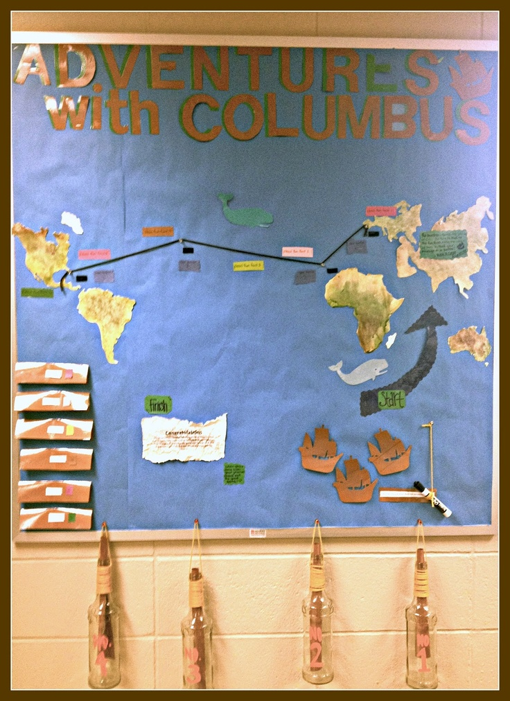 Literary Showcase: Adventures with Columbus Bulletin Board!