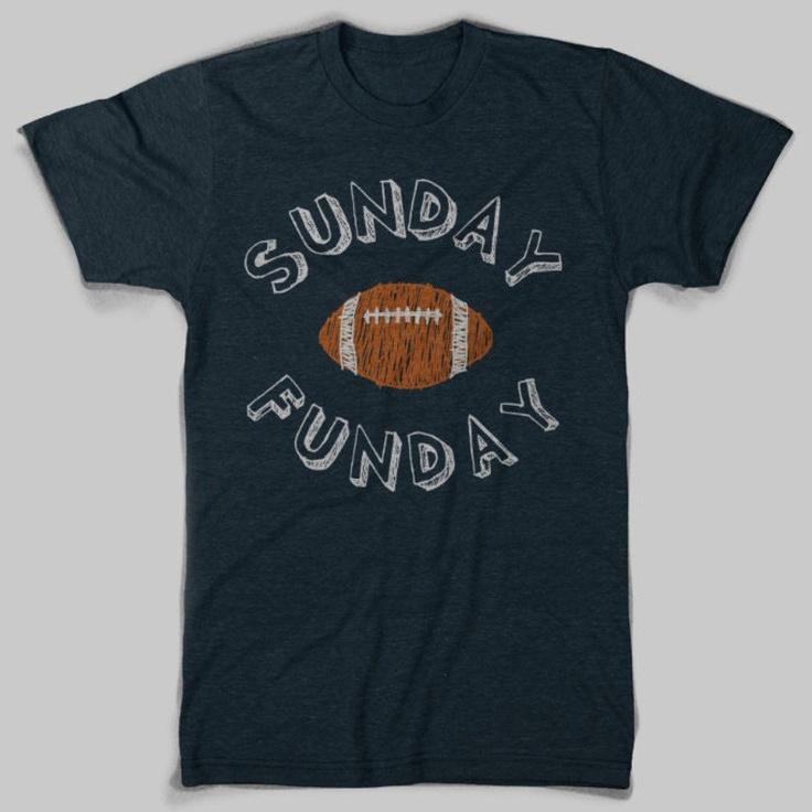 Sunday Funday football tee