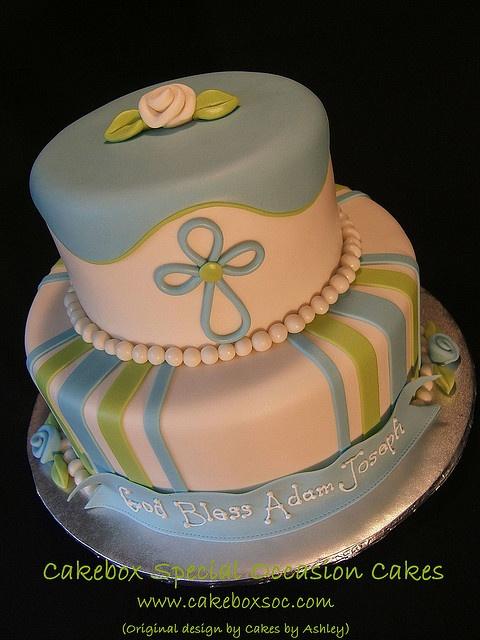 baptism cake!! pretty