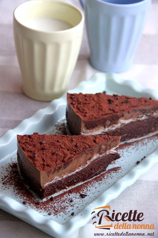 Sfogliata di cioccolata e crema al caffè ricetta e foto