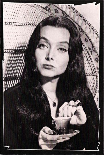 Vintage TV Classsing Addams Family Postcard: Morticia Frump Addams [Carolyn Jones]