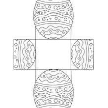 Boîte Pâque oeuf à colorier et découper - Coloriage - Coloriage FETES - Coloriage PAQUES - Coloriage PÂQUES à découper
