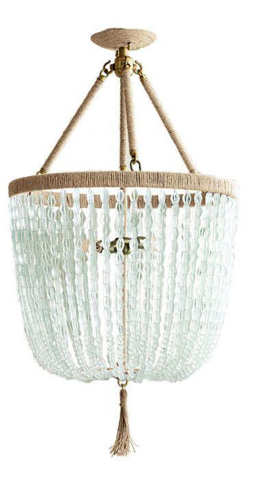 Malibu E Bottle Beaded Hanging Chandelier Ro Sham Beaux Lighting