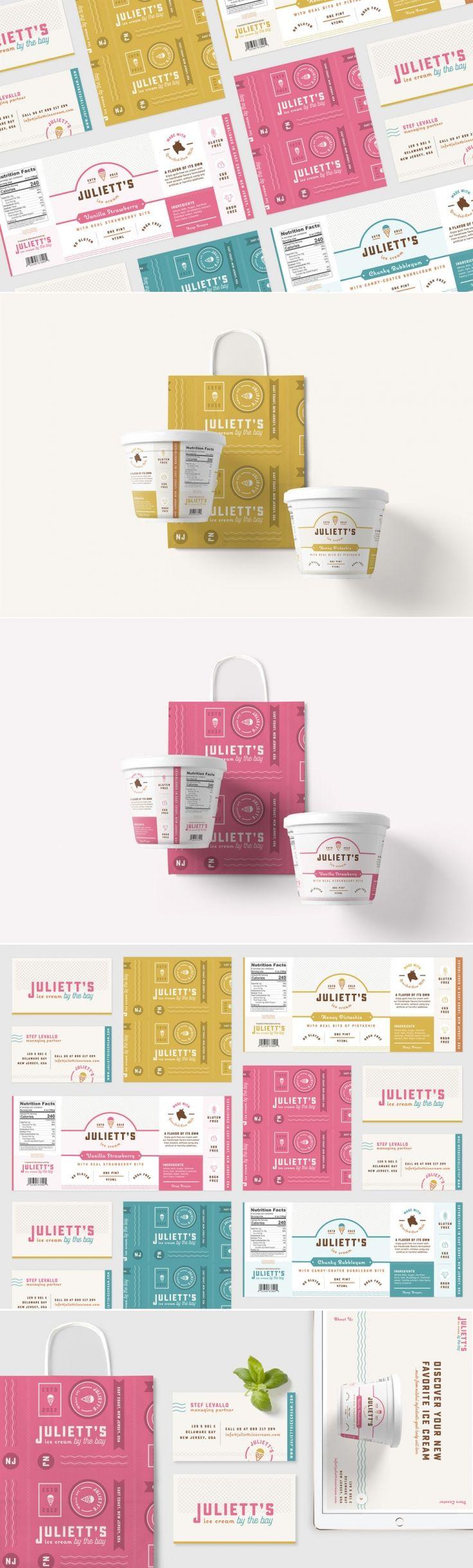 Concept: Juliett's Ice Cream — The Dieline | Packaging & Branding Design & Innovation News