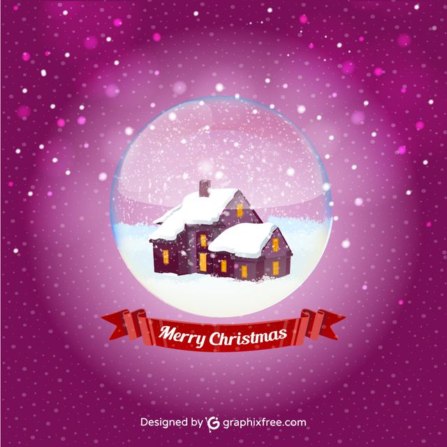 Christmas Ball House - #greeting #house #crystal #ball #celebration #winter #new #year #happiness #holiday #christmas #card #decoration #lighting #day #light #equipment #december #effect #bright #bow #ice #abstract #snowflake #poster #snow #ribbon #tree #cold #january #bulb #knitting #glitter #letter #gift #box #banner #ornament #nature #pattern