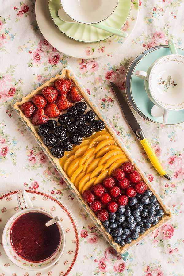 tarta de crema frutastarta de crema frutas