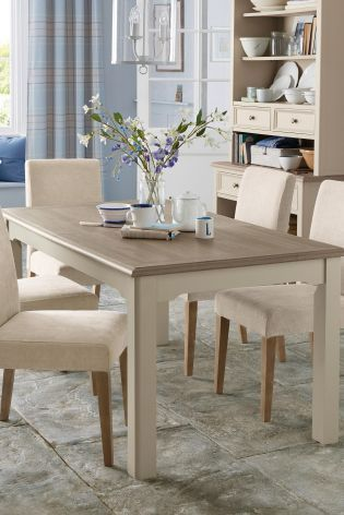 Dorset Dark Natural 8 Seater Extending Dining Table From Next