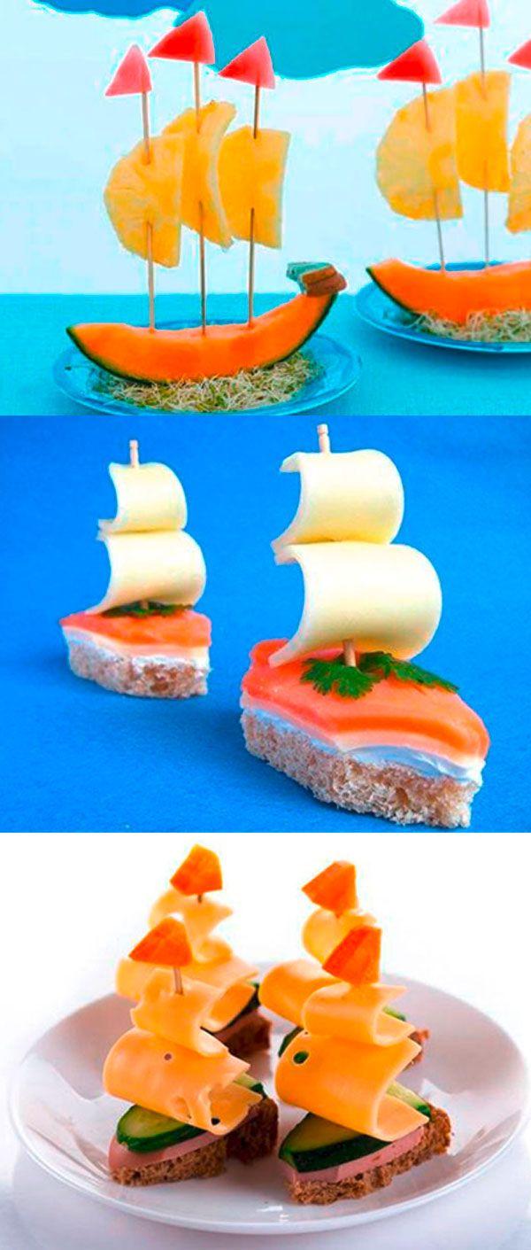 """10 recettes pour mener  les enfants en """"bateau"""" à l'heure des repas et leur fai…"""