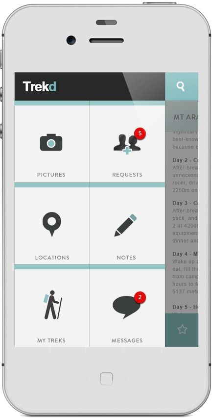App | Trekd Concept on Behance