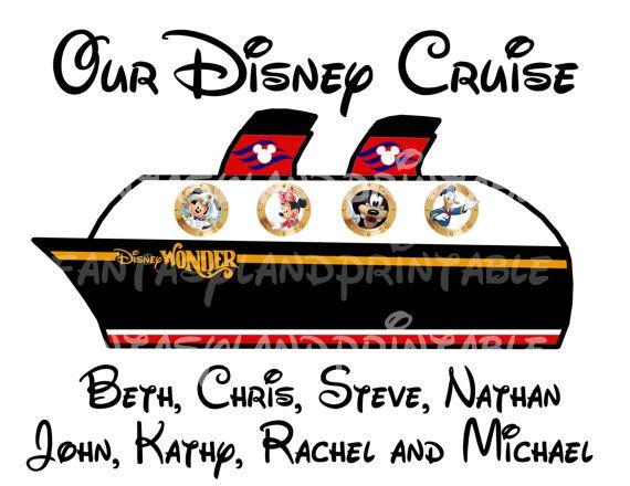 Disney Cruise Ship Personalized Disney by FantasylandPrintable