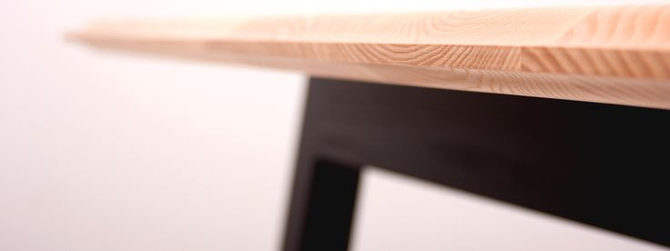 Pi table - solid timber table edge