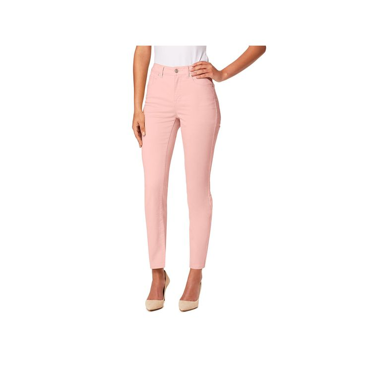 Women's Miracle Jean Faith Slimming Stretch Ankle Jeans, Size: 14, Med Pink