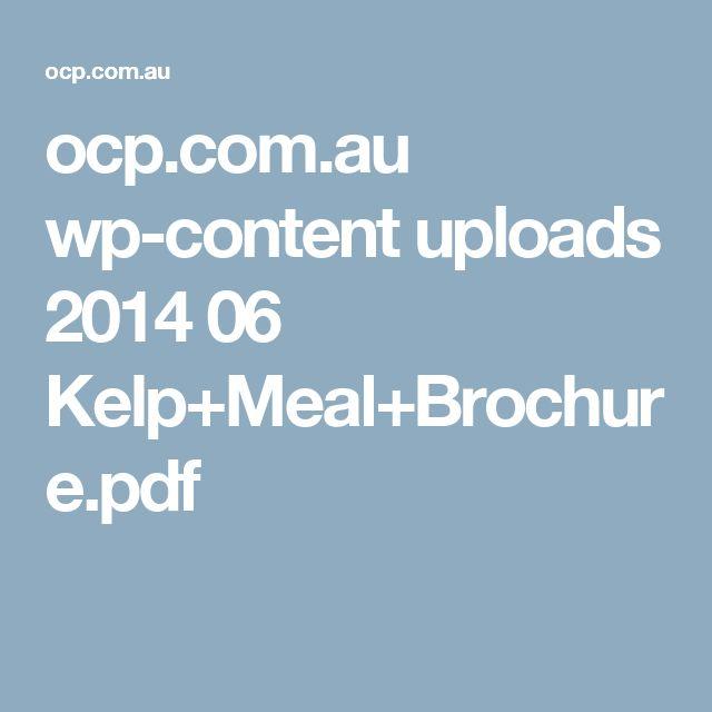 ocp.com.au wp-content uploads 2014 06 Kelp+Meal+Brochure.pdf