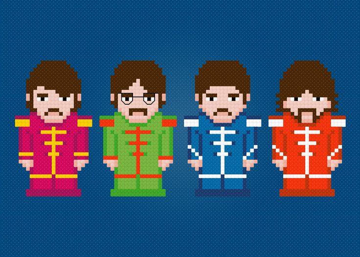 The Beatles Rock Band Cross Stitch PDF Pattern Download. $5,00, via Etsy.
