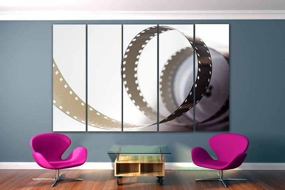 Cinema Canvas Modern Wall Art Film Print Movie Wall Decor Etsy Modern Wall Art Movie Wall Art Film Prints