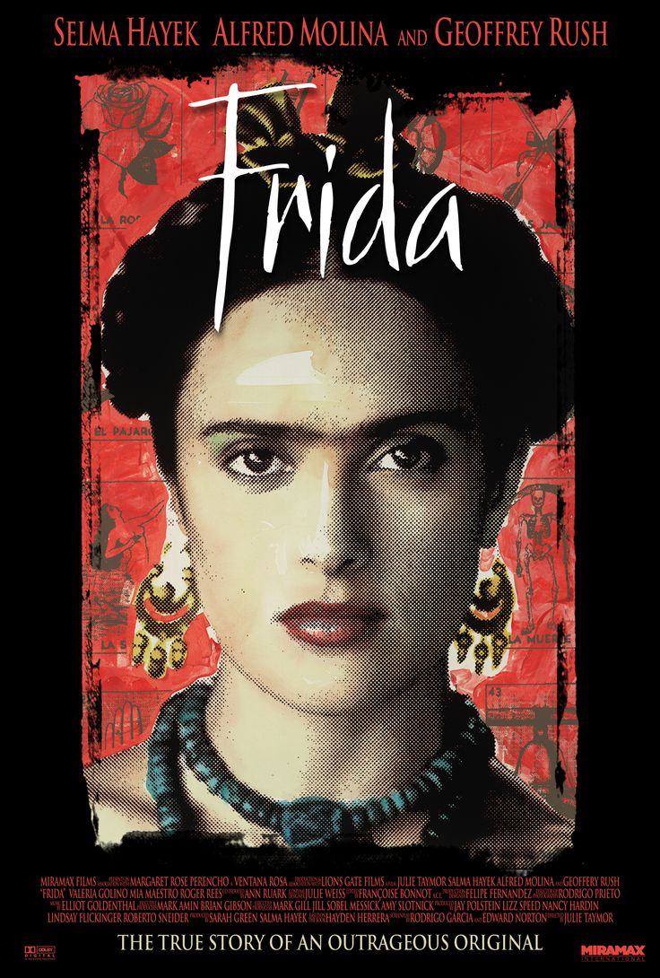 """Frida"" (2002) This Oscar winning biopic focuses on painter Frida Kahlo's relationship with her husband and her controversial political and sexual reputation."