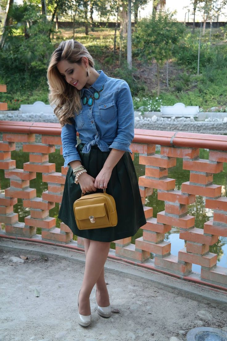 Saia_Camisa Jeans_Maxi colar S2