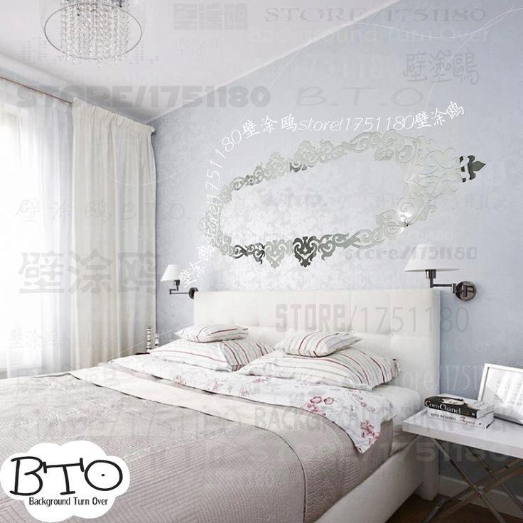 Diy творческий изысканная резьба шаблон декоративные акриловая зеркало на стене спальня декор гостиной потолок наклейка R202
