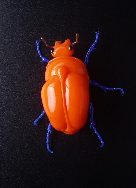 tangerine beetle pin: