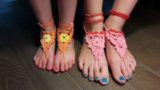 """Tuttefrut: Gehaakte """"blote-voeten-sandalen""""😉 (Barefoot Sanda..."""