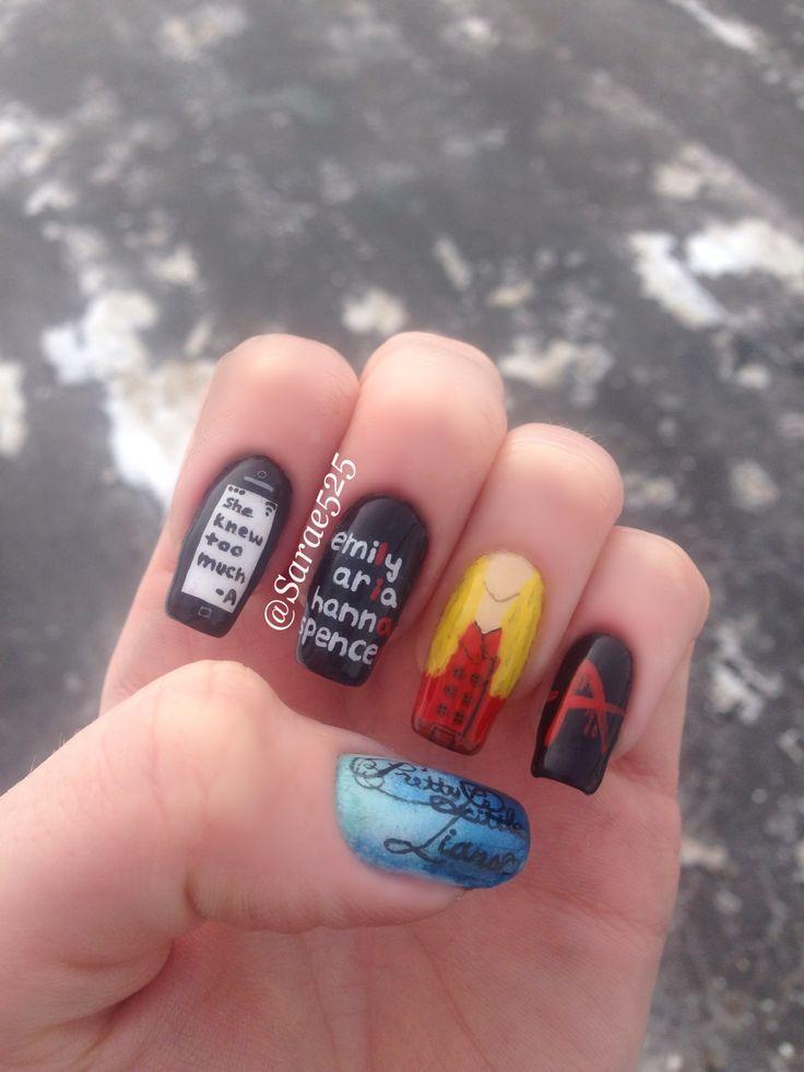 Pretty Little Liars Nails #prettylittleliars #pll #pllnails