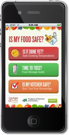 This app is designed to help people eat healthier and learn about certain food contaminations that take place in staple foods around the house.