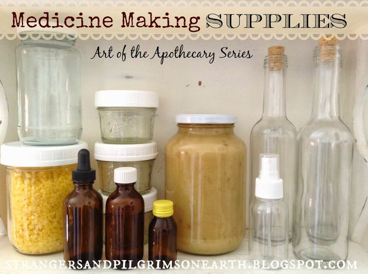 Medicine Making Supplies ~ Home Pharmacy Series
