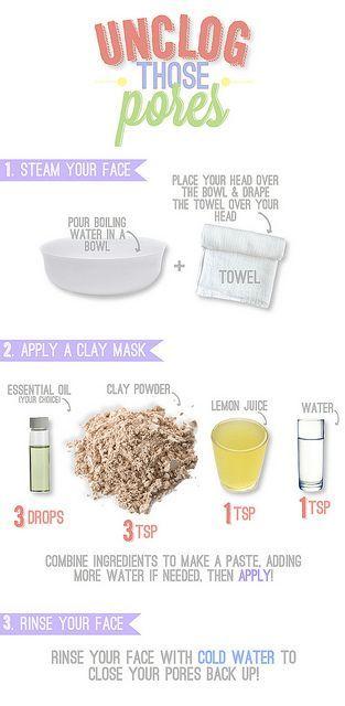 Mask for unclogging pores