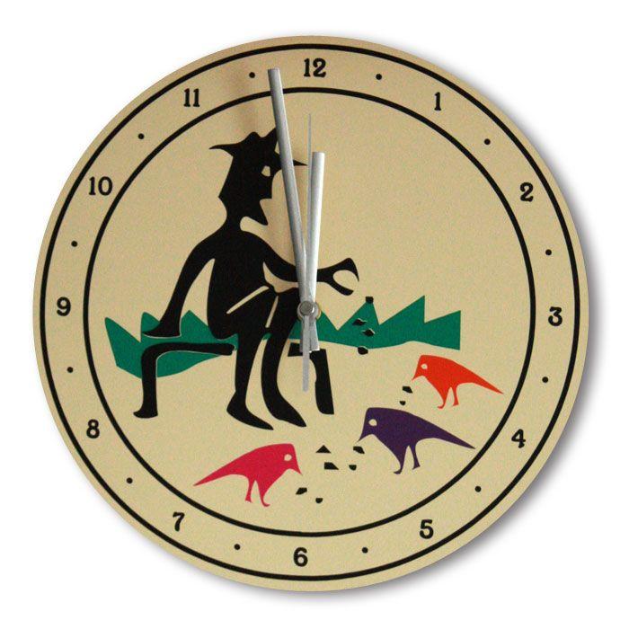 Часы настенные - Старик и птицы