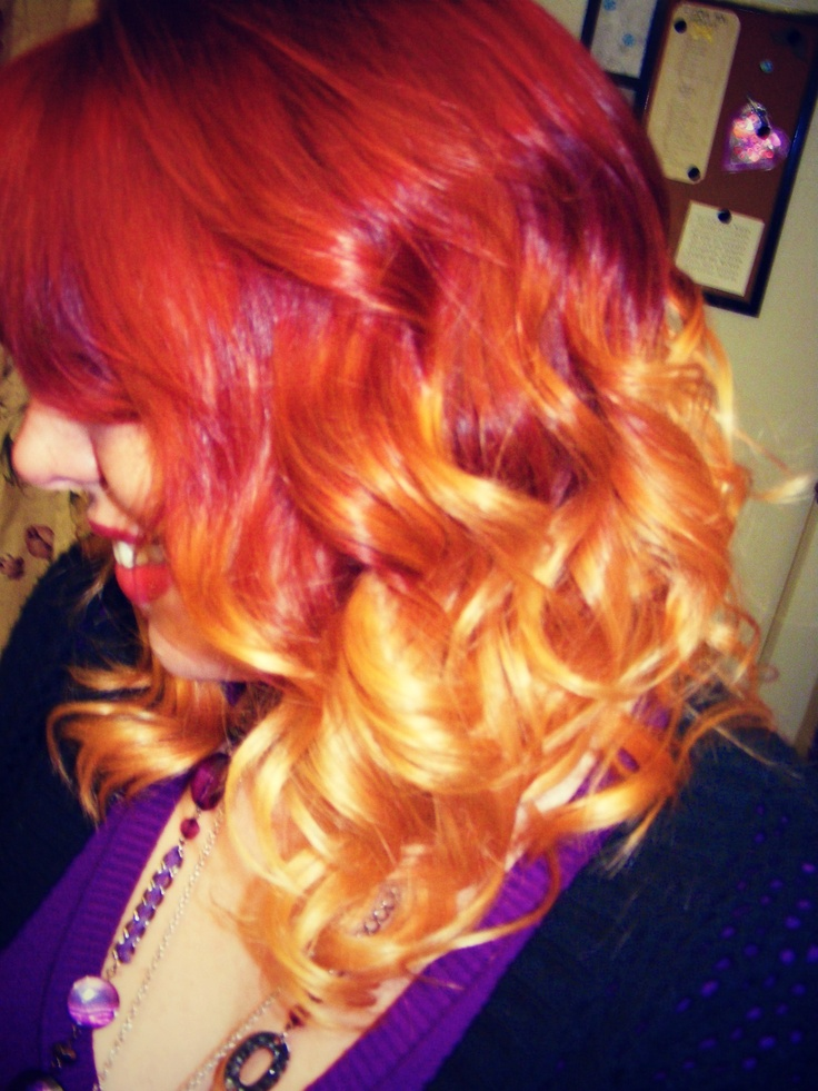 Red To Strawberry Blonde Ombre Traffic Club