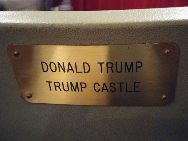 We found something that a charity named in honor of Donald Trump. It is a chair.