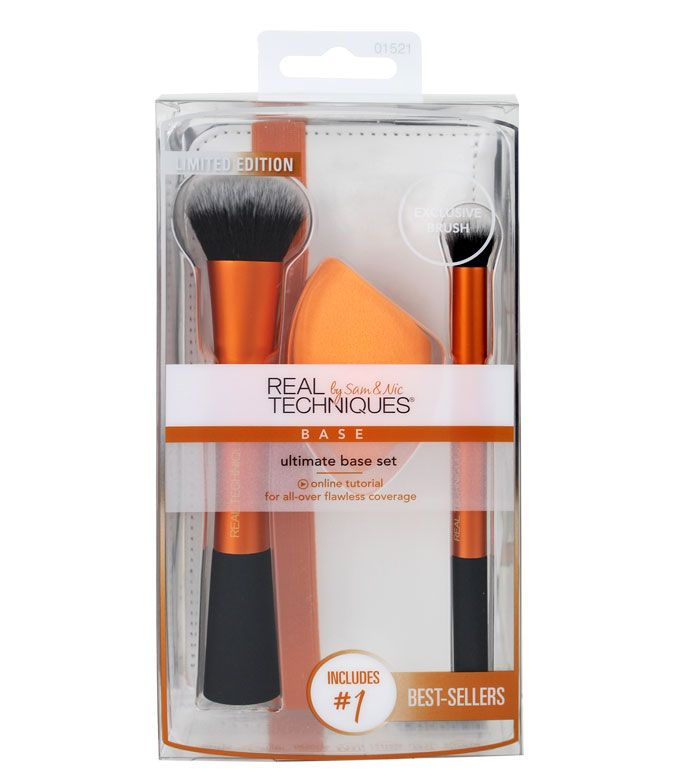 Real Techniques - Ultimate Base Brush & Sponge Set by Sam&Nic